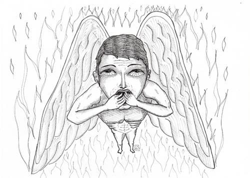 angeli illustrazioni