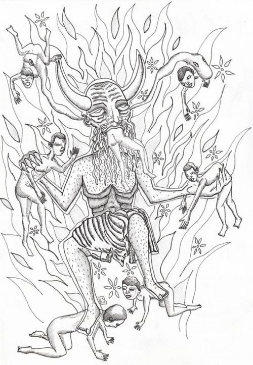 satana diavolo disegno